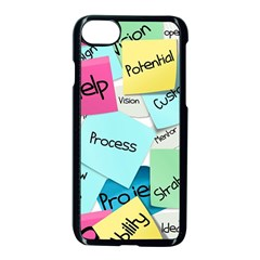 Stickies Post It List Business Apple Iphone 7 Seamless Case (black) by Celenk