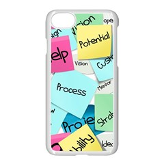 Stickies Post It List Business Apple Iphone 7 Seamless Case (white) by Celenk