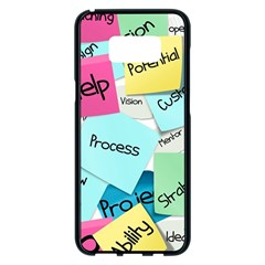 Stickies Post It List Business Samsung Galaxy S8 Plus Black Seamless Case by Celenk