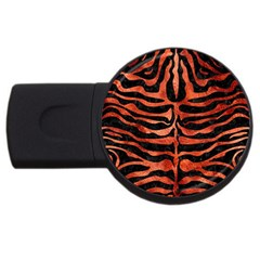 Skin2 Black Marble & Copper Paint (r) Usb Flash Drive Round (2 Gb) by trendistuff