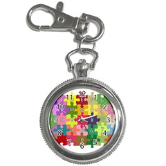 Puzzle Part Letters Abc Education Key Chain Watches by Celenk