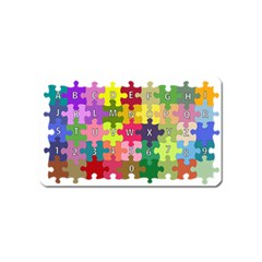 Puzzle Part Letters Abc Education Magnet (name Card) by Celenk