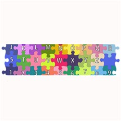 Puzzle Part Letters Abc Education Large Bar Mats by Celenk