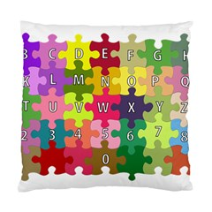 Puzzle Part Letters Abc Education Standard Cushion Case (two Sides) by Celenk