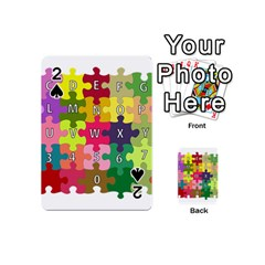 Puzzle Part Letters Abc Education Playing Cards 54 (mini)  by Celenk