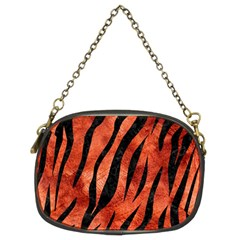 Skin3 Black Marble & Copper Paint Chain Purses (two Sides)  by trendistuff