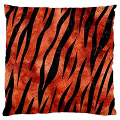 Skin3 Black Marble & Copper Paint Large Flano Cushion Case (one Side) by trendistuff