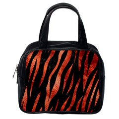 Skin3 Black Marble & Copper Paint (r) Classic Handbags (one Side) by trendistuff