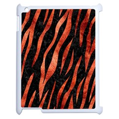Skin3 Black Marble & Copper Paint (r) Apple Ipad 2 Case (white) by trendistuff