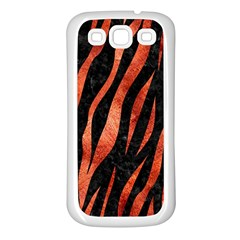 Skin3 Black Marble & Copper Paint (r) Samsung Galaxy S3 Back Case (white) by trendistuff