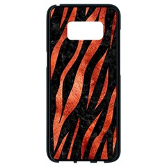 Skin3 Black Marble & Copper Paint (r) Samsung Galaxy S8 Black Seamless Case by trendistuff