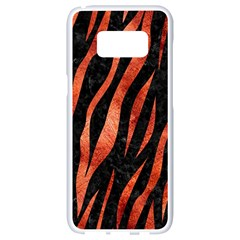 Skin3 Black Marble & Copper Paint (r) Samsung Galaxy S8 White Seamless Case by trendistuff
