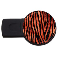 Skin4 Black Marble & Copper Paint Usb Flash Drive Round (2 Gb) by trendistuff