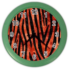 Skin4 Black Marble & Copper Paint (r) Color Wall Clocks by trendistuff