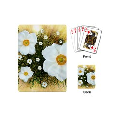 Summer Anemone Sylvestris Playing Cards (mini)  by Celenk