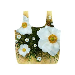 Summer Anemone Sylvestris Full Print Recycle Bags (s)  by Celenk