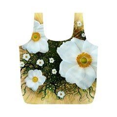 Summer Anemone Sylvestris Full Print Recycle Bags (m)  by Celenk