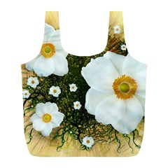 Summer Anemone Sylvestris Full Print Recycle Bags (l)  by Celenk