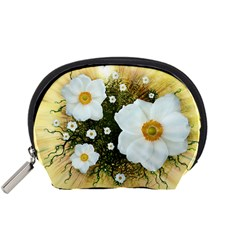 Summer Anemone Sylvestris Accessory Pouches (small)  by Celenk