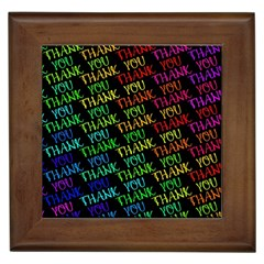 Thank You Font Colorful Word Color Framed Tiles