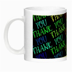 Thank You Font Colorful Word Color Night Luminous Mugs