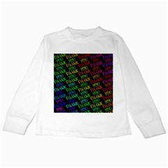 Thank You Font Colorful Word Color Kids Long Sleeve T Shirts