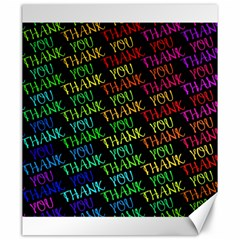 Thank You Font Colorful Word Color Canvas 20  X 24