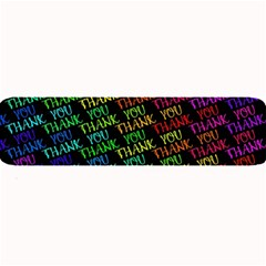 Thank You Font Colorful Word Color Large Bar Mats