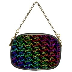 Thank You Font Colorful Word Color Chain Purses (two Sides)  by Celenk