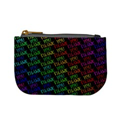 Thank You Font Colorful Word Color Mini Coin Purses