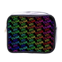 Thank You Font Colorful Word Color Mini Toiletries Bags by Celenk