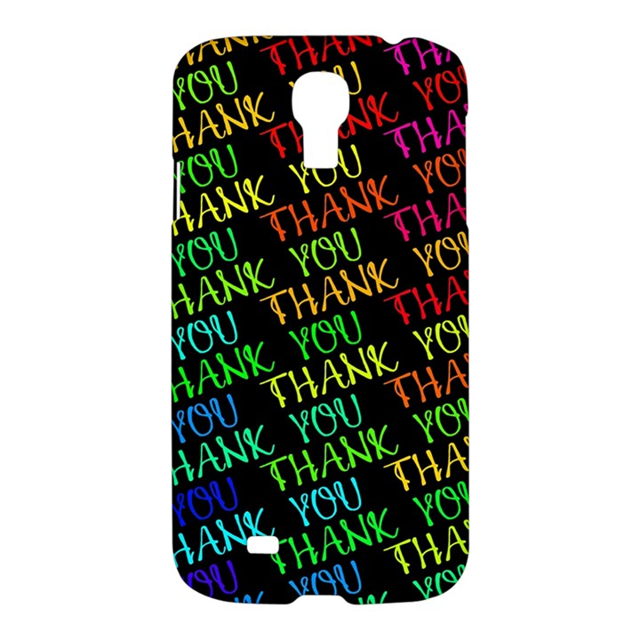 Thank You Font Colorful Word Color Samsung Galaxy S4 I9500/I9505 Hardshell Case