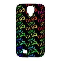 Thank You Font Colorful Word Color Samsung Galaxy S4 Classic Hardshell Case (pc+silicone) by Celenk