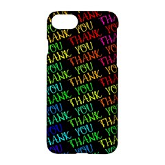 Thank You Font Colorful Word Color Apple Iphone 7 Hardshell Case