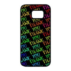 Thank You Font Colorful Word Color Samsung Galaxy S7 Edge Black Seamless Case by Celenk
