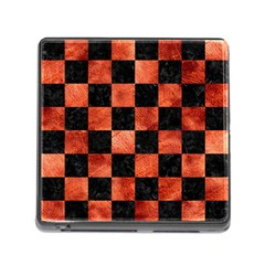 Square1 Black Marble & Copper Paint Memory Card Reader (square) by trendistuff