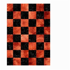 Square1 Black Marble & Copper Paint Large Garden Flag (two Sides) by trendistuff