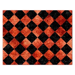 Square2 Black Marble & Copper Paint Rectangular Jigsaw Puzzl by trendistuff