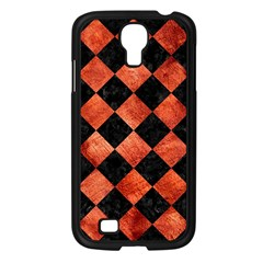 Square2 Black Marble & Copper Paint Samsung Galaxy S4 I9500/ I9505 Case (black) by trendistuff