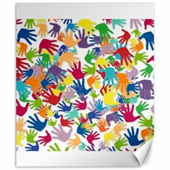 Volunteers Hands Voluntary Wrap Canvas 8  X 10  by Celenk