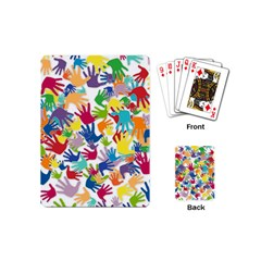 Volunteers Hands Voluntary Wrap Playing Cards (mini)