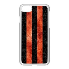 Stripes1 Black Marble & Copper Paint Apple Iphone 8 Seamless Case (white) by trendistuff