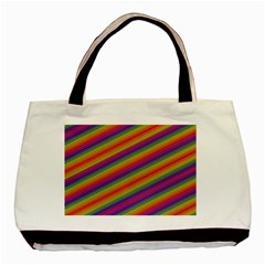 Spectrum Psychedelic Green Basic Tote Bag by Celenk