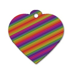 Spectrum Psychedelic Green Dog Tag Heart (one Side)