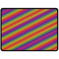 Spectrum Psychedelic Green Fleece Blanket (large)  by Celenk