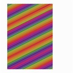 Spectrum Psychedelic Green Small Garden Flag (two Sides) by Celenk