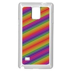 Spectrum Psychedelic Green Samsung Galaxy Note 4 Case (white) by Celenk