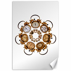 Time Clock Alarm Clock Time Of Canvas 24  X 36  by Celenk