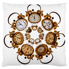 Time Clock Alarm Clock Time Of Large Cushion Case (two Sides) by Celenk