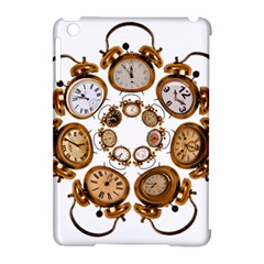 Time Clock Alarm Clock Time Of Apple Ipad Mini Hardshell Case (compatible With Smart Cover) by Celenk